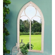 Astoria Grand Windowpane Style Garden Mirror