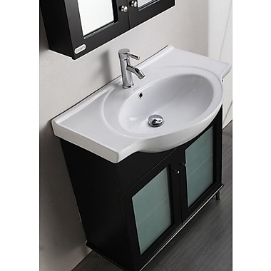 Eviva Tux 36'' Single Bathroom Vanity Set; Espresso