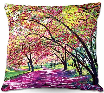 DiaNocheDesigns Lazy Afternoon Central Park Throw Pillow; 22'' H x 22'' W x 5'' D