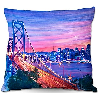 DiaNocheDesigns San Francisco Nights Throw Pillow; 18'' H x 18'' W x 5'' D