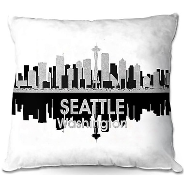 East Urban Home Seattle Washington Throw Pillow; 20'' H x 20'' W x 5'' D