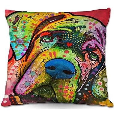 East Urban Home Dog Square Throw Pillow; 18'' H x 18'' W x 5'' D