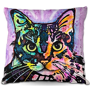DiaNocheDesigns Maya Cat Throw Pillow; 20'' H x 20'' W x 5'' D