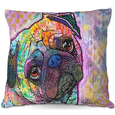 DiaNocheDesigns Pug Love Dog Throw Pillow; 18'' H x 18'' W x 5'' D