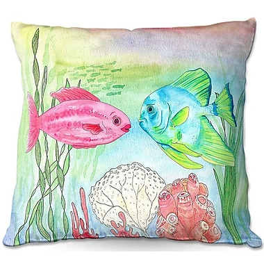 East Urban Home Fish and Coral Throw Pillow; 18'' H x 18'' W x 5'' D