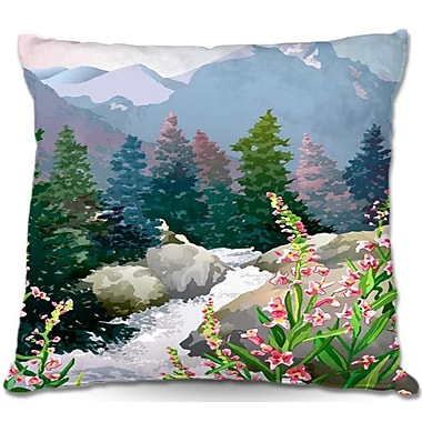 DiaNocheDesigns Mountain Stream Throw Pillow; 22'' H x 22'' W x 5'' D