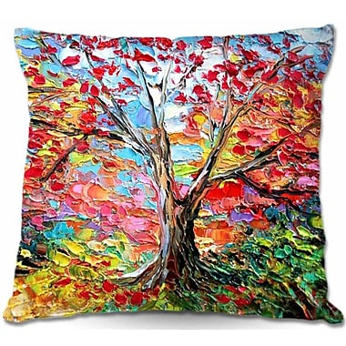 DiaNocheDesigns Story of the Tree 59 Throw Pillow; 16'' H x 16'' W x 4'' D