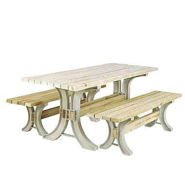 August Grove Pyramidale Picnic 3 Piece Table Kit