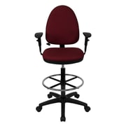 Offex Mid-Back Drafting Chair; Burgundy
