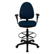 Offex Mid-Back Drafting Chair; Navy Blue