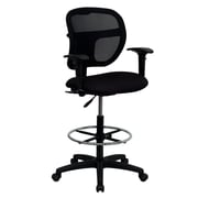Offex Mid-Back Mesh Drafting Chair; Black