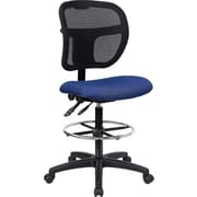 Offex Mid-Back Mesh Drafting Chair; Navy