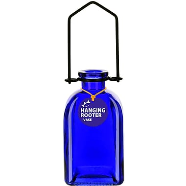 Couronne Roma Hanging Recycled Glass Rooting Wall Vase; Cobalt Blue