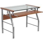Offex Glass Computer Desk
