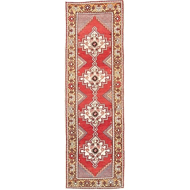 Pasargad Oushak Lamb's Wool Hand-Knotted Brown/Red Area Rug
