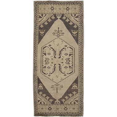Pasargad Oushak Lamb's Wool Hand-Knotted Beige Area Rug