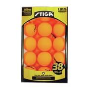 Stiga Table Tennis Ball (Pack of 38); Orange