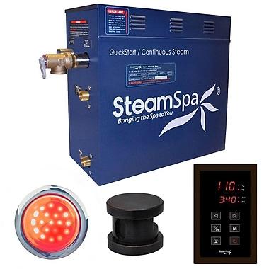 Steam Spa Indulgence 9 kW QuickStart Steam Bath Generator Package; Oil Rubbed Bronze
