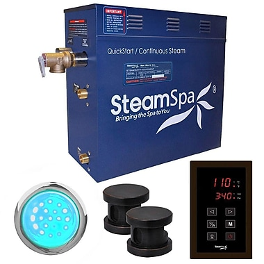 Steam Spa Indulgence 12 kW QuickStart Steam Bath Generator Package; Oil Rubbed Bronze