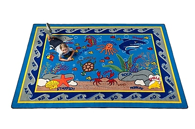 Kid Carpet Fish in the Sea Area Rug; Rectangle 6' x 8'6''