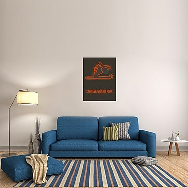 Naxart 'Chinese Grand Prix 2' Graphic Art on Wrapped Canvas; 40'' H x 30'' W x 1.5'' D