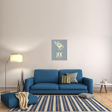 Naxart 'JFK New York Poster 1' Graphic Art on Wrapped Canvas; 32'' H x 24'' W x 1.5'' D
