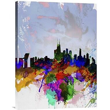 Naxart 'Copenhagen Skyline' Graphic Art on Wrapped Canvas; 40'' H x 30'' W x 1.5'' D