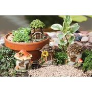Evergreen Enterprises, Inc Fuchs Mini Fairy House 4 Piece Statue Set