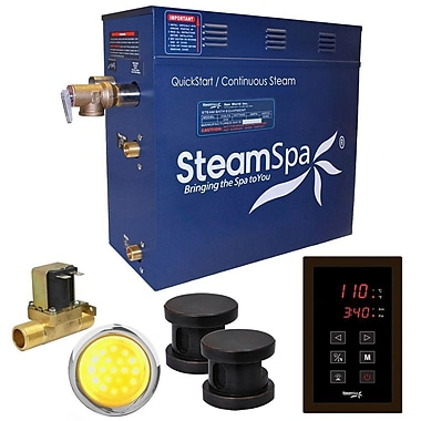 Steam Spa Indulgence 12 kW QuickStart Steam Bath Generator Package w/ Built-in Auto Drain