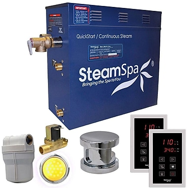 Steam Spa Royal 4.5 kW QuickStart Steam Bath Generator Package w/ Built-in Auto Drain