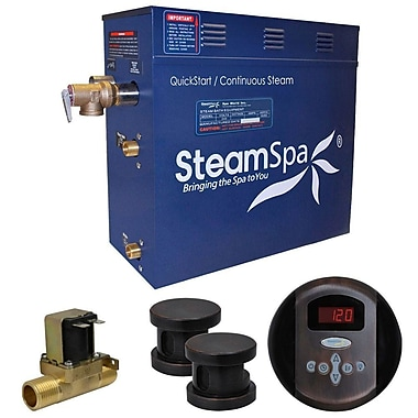 Steam Spa Oasis 10.5 kW QuickStart Steam Bath Generator Package w/ Built-in Auto Drain
