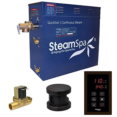 Steam Spa Oasis 9 kW QuickStart Steam Bath Generator Package w/ Built-in Auto Drain