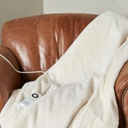 Berkshire Blanket Intellisense  Electric Throw; Cream
