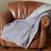Berkshire Blanket Intellisense  Electric Throw; Chateau Gray