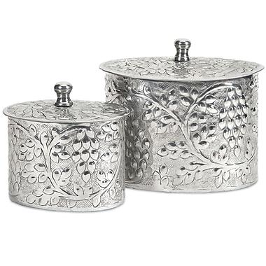 Darby Home Co Silver 2 Piece Decorative Box Set