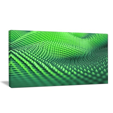 DesignArt 'Green 3D Spiny Texture' Graphic Art Print on Wrapped Canvas; 20'' H x 40'' W x 1'' D
