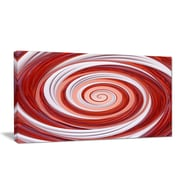 DesignArt 'Christmas Candy Cane Spiral' Graphic Art Print on Wrapped Canvas; 12'' H x 20'' W x 1'' D