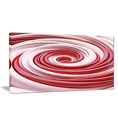 DesignArt 'Beautiful Candy Cane Spiral' Graphic Art Print on Wrapped Canvas; 12'' H x 20'' W x 1'' D