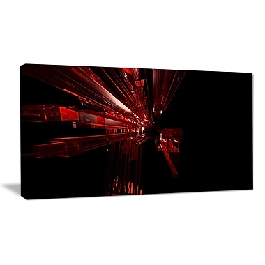DesignArt '3D Red Crystal Background' Graphic Art Print on Wrapped Canvas; 30'' H x 40'' W x 1'' D