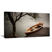 DesignArt Designart 'Little Rowing Boat Ferry' Boat Wall Artwork on Canvas; 12'' H x 20'' W x 1'' D