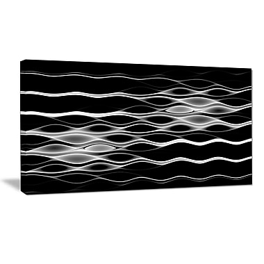 DesignArt 'White Waves Fractal Pattern' Graphic Art Print on Wrapped Canvas; 20'' H x 40'' W x 1'' D