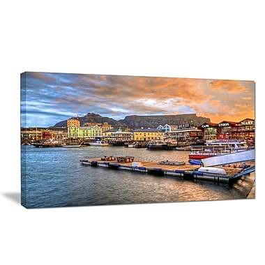 DesignArt 'Cape Town Waterfront at Sunset' Photographic Print on Wrapped Canvas