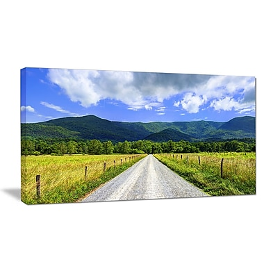 DesignArt 'Sparks Lane in Cades Cove' Photographic Print on Wrapped Canvas; 12'' H x 20'' W x 1'' D