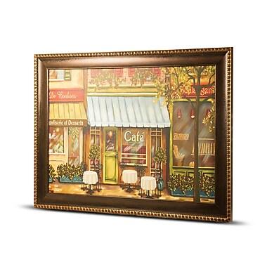 CYRG 'Caf Scene' Framed Painting Print