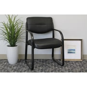 Symple Stuff Leather Guest Chair w/ Scratch Resistant Finish