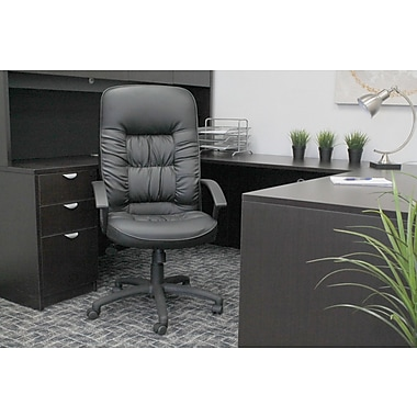 Symple Stuff Leather Executive Chair; Spring