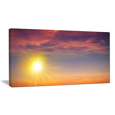 DesignArt 'Beautiful Panoramic Sunset' Photographic Print on Wrapped Canvas; 16'' H x 32'' W x 1'' D