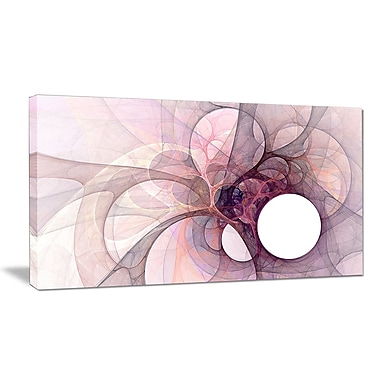 DesignArt 'Light Purple Fractal Angel Wings' Graphic Art Print on Wrapped Canvas