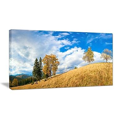 DesignArt 'Mountain Autumn Panorama' Photographic Print on Wrapped Canvas; 20'' H x 40'' W x 1'' D
