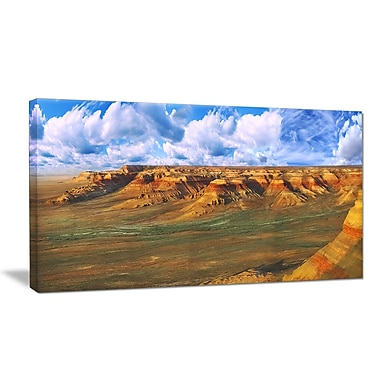 DesignArt 'Plateau Ustyurt Panorama' Photographic Print on Wrapped Canvas; 30'' H x 40'' W x 1'' D